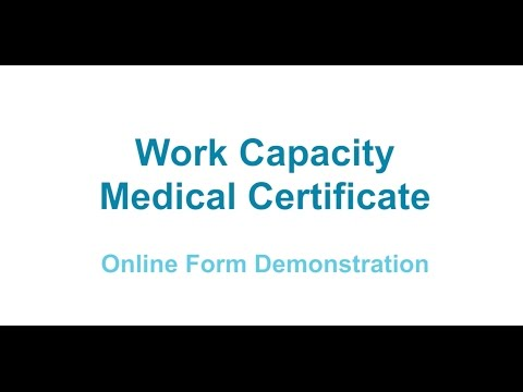 Work And Income Work Capacity Medical Certificate: Now Via