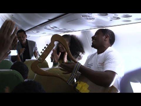 Historic commercial flight links Ethiopia and Eritrea