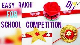 DIY 3 super easy Rakhimaking for kidsschool competition with foam sheet, gota u0026 pompom (HD video)