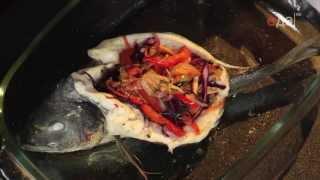 Дорада с жюльеном из овощей