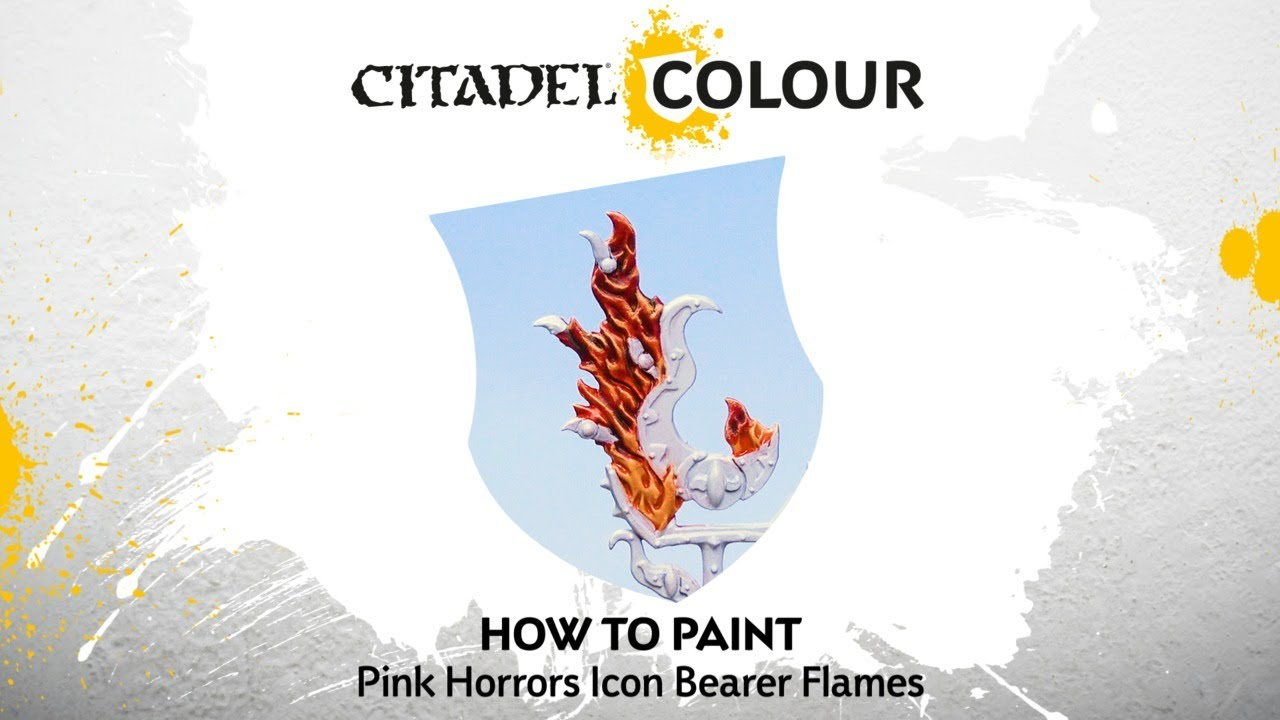How to Paint: Pink Horrors Icon Bearer Flames