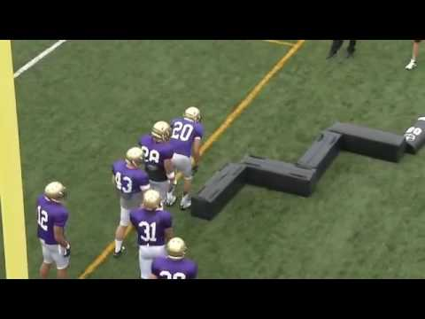 Washington Running Back Football Drills