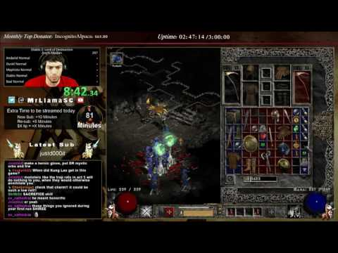 Diablo 2 - Median XL Speedrun!! - 1st try (Necro)