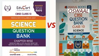 Educart Science Class 10 Question Bank Reduced Syllabus Book For 2021 VS Oswaal Question Bank