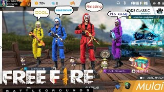 Mabar Full Squad Skin Bandit FREE FIRE BATTLEGROUNDS INDONESIA#02
