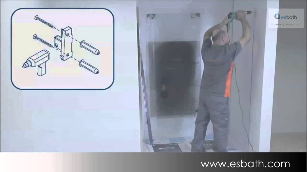 Montaje mampara de ducha pro mo210 esbath youtube - Montaje mampara ducha ...
