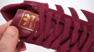 Обзор на бордовые женские кроссовки Adidas Hamburg