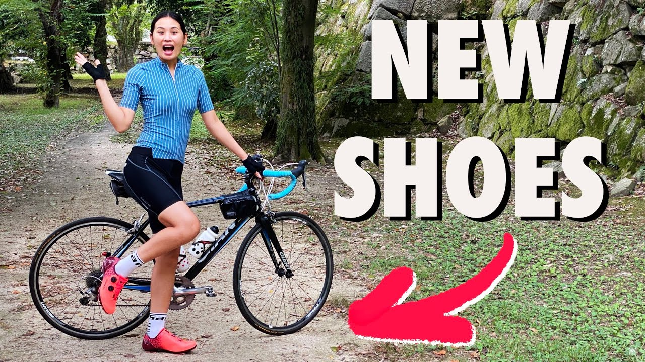 First Ride In Her New Cycling Shoes + Free Giveaway!