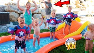BACKYARD WATER PARK SLIP N SLIDE PARTY!