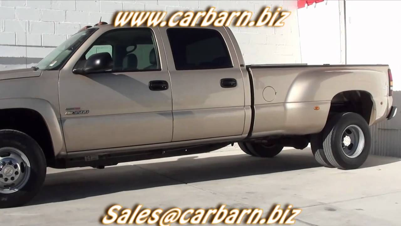 All Chevy 2005 chevy dually bed for sale : SOLD! - 2005 Chevy 3500 Dually Crew Cab 4x4 Duramax at Car Barn in ...