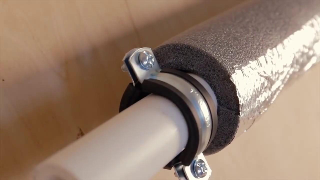 Монтаж нагревательного кабеля для обогрева трубы