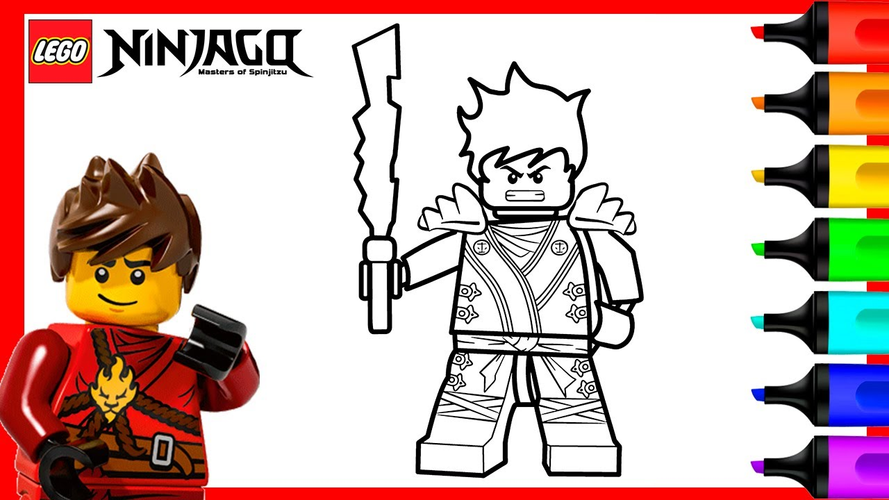 Kai Lego Ninjago Coloring Pages Lego Ninjago Coloring Book Youtube