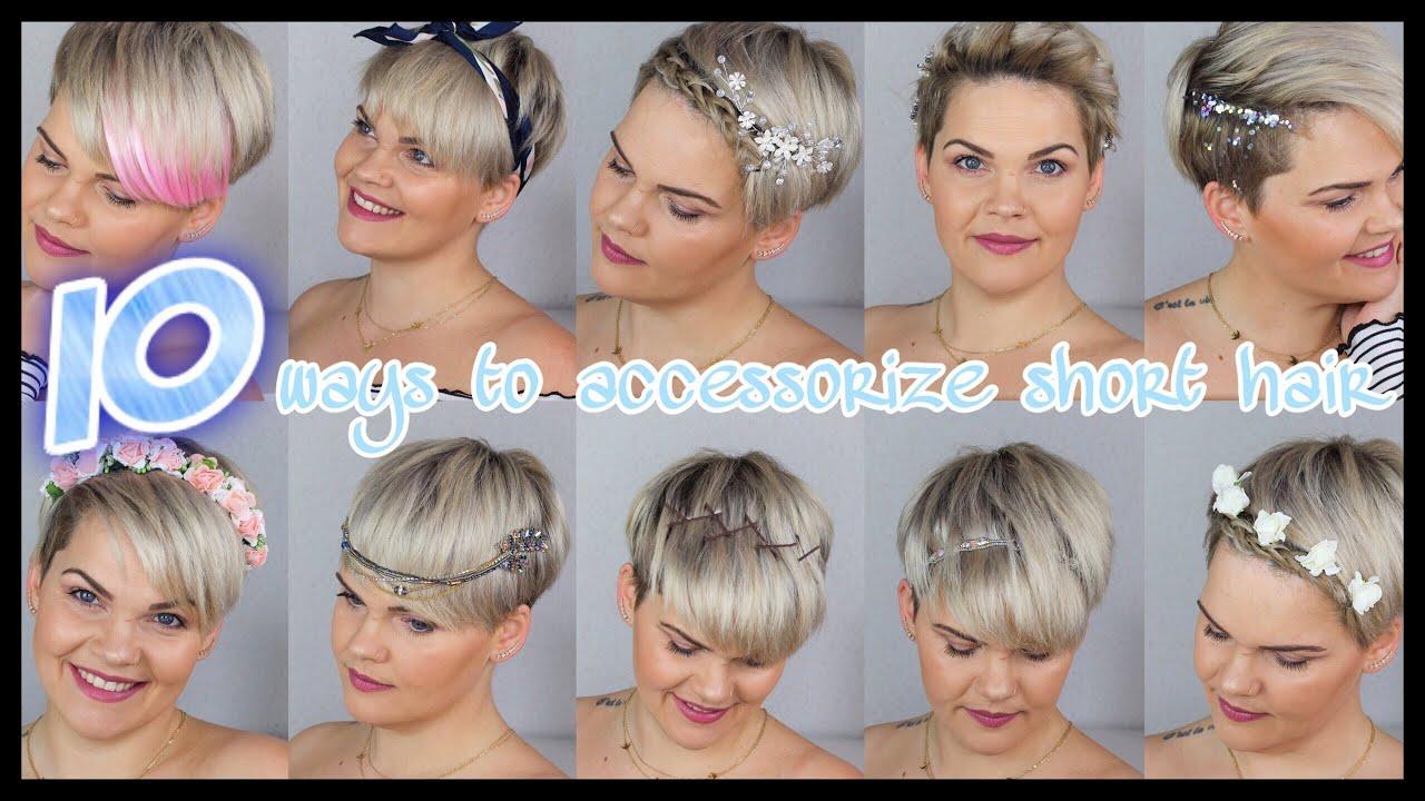 8 einfache Frisuren für kurze Haare  Hochzeit, Wiesn, Alltag, Festival  EASY SHORT HAIRSTYLES
