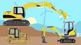 Excavators And Trucks And Bulldozer | Street Vehicles - Videos For Kids