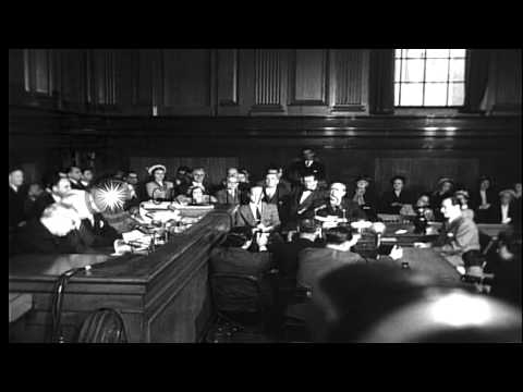 "Frank Costello testifying before the Kefauver Committee and giving the famous ""Pa...HD Stock Footage"