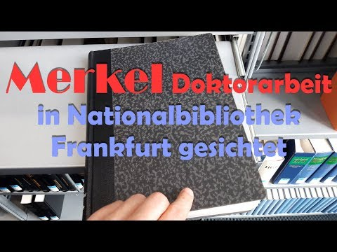 Doktorarbeit Merkels in Nationalbibliothek Frankfurt