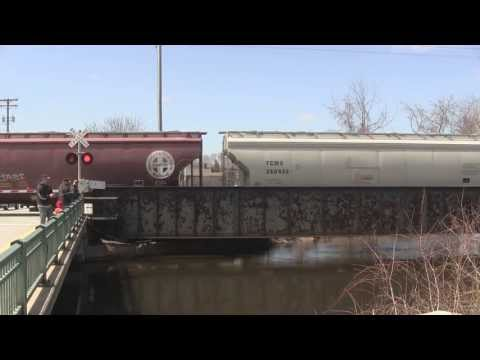 Canadian National freight around Fond Du Lac, WI 4/20/13