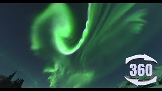 Real Time 360 video of the Aurora Borealis over Otto Lake, Alaska!