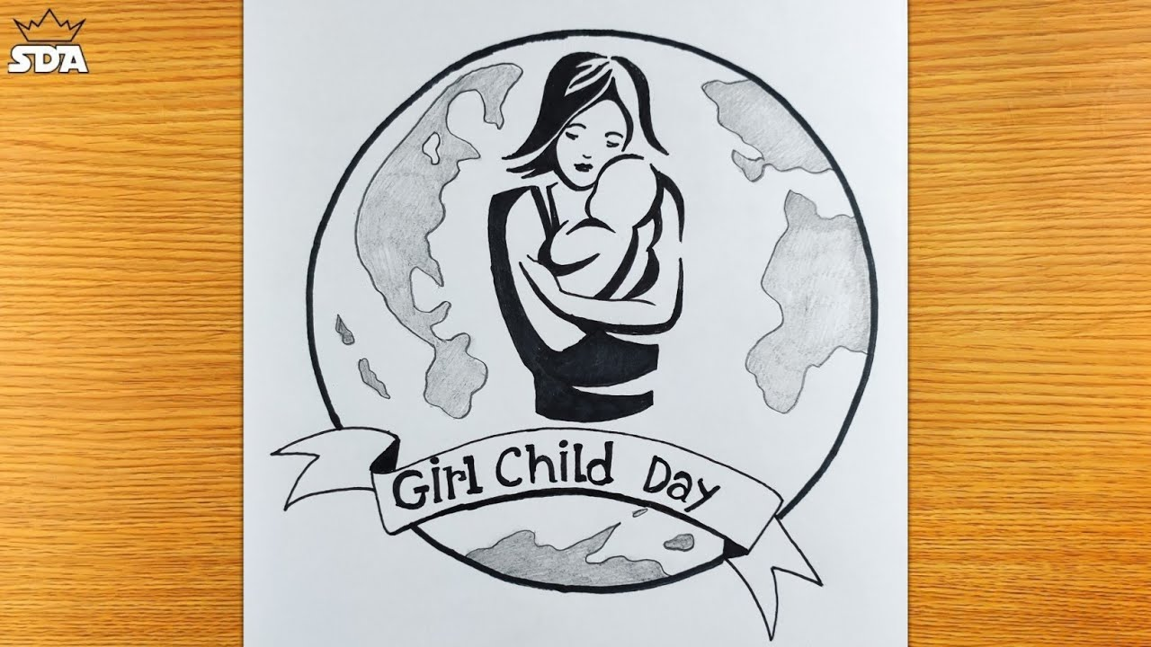 Save Girl Child - Save Girl Child Drawing - How to Draw Save Girl Child - Save Girl Child Poster