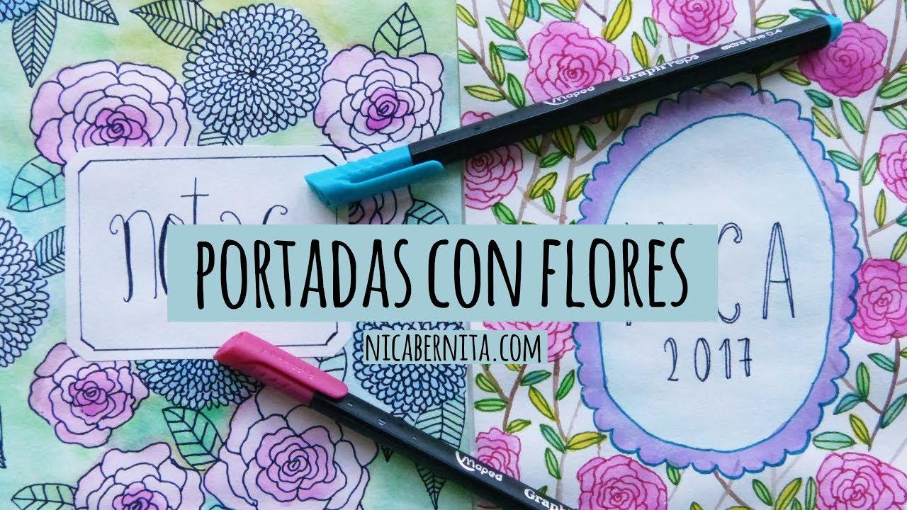 Dibujos Para Portadas De Cuaderno: PORTADAS PARA CUADERNOS CON ACUARELAS 📚 PORTADAS