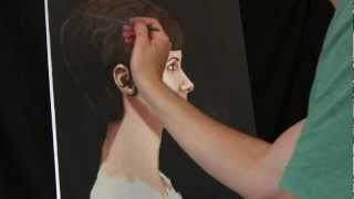 Time Lapse Profile Portrait Painting Of Kate By Tim Gagnon Oil Acrylic Artwork