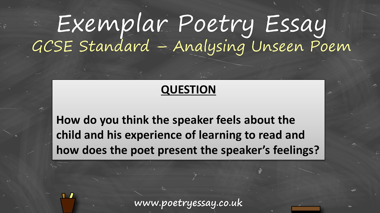 gcse poetry analysis essays A resource with a revision aid, a booklet, how to write an a gcse english literature poetry response a weeks work on war poetry including narrative writing.