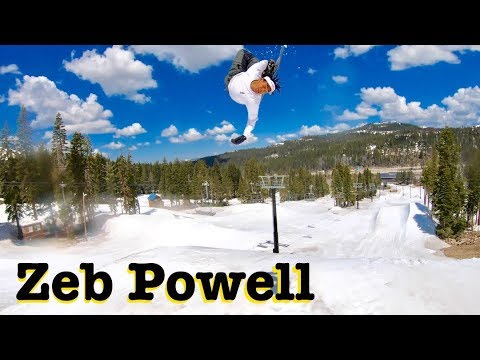 SNOWBOARDING with ZEB POWELL || WOODWARD TAHOE 2019 SHREDBOTS WEEK