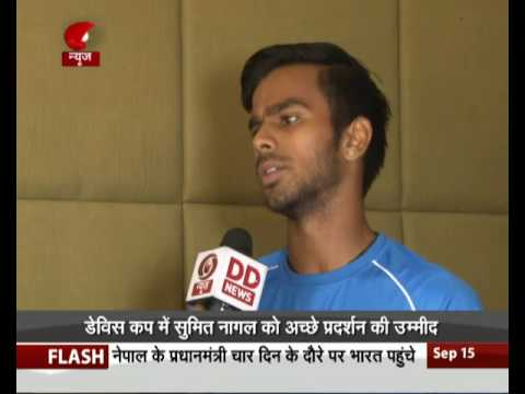 Davis Cup: Interview with Indian team member Sumit Nagal