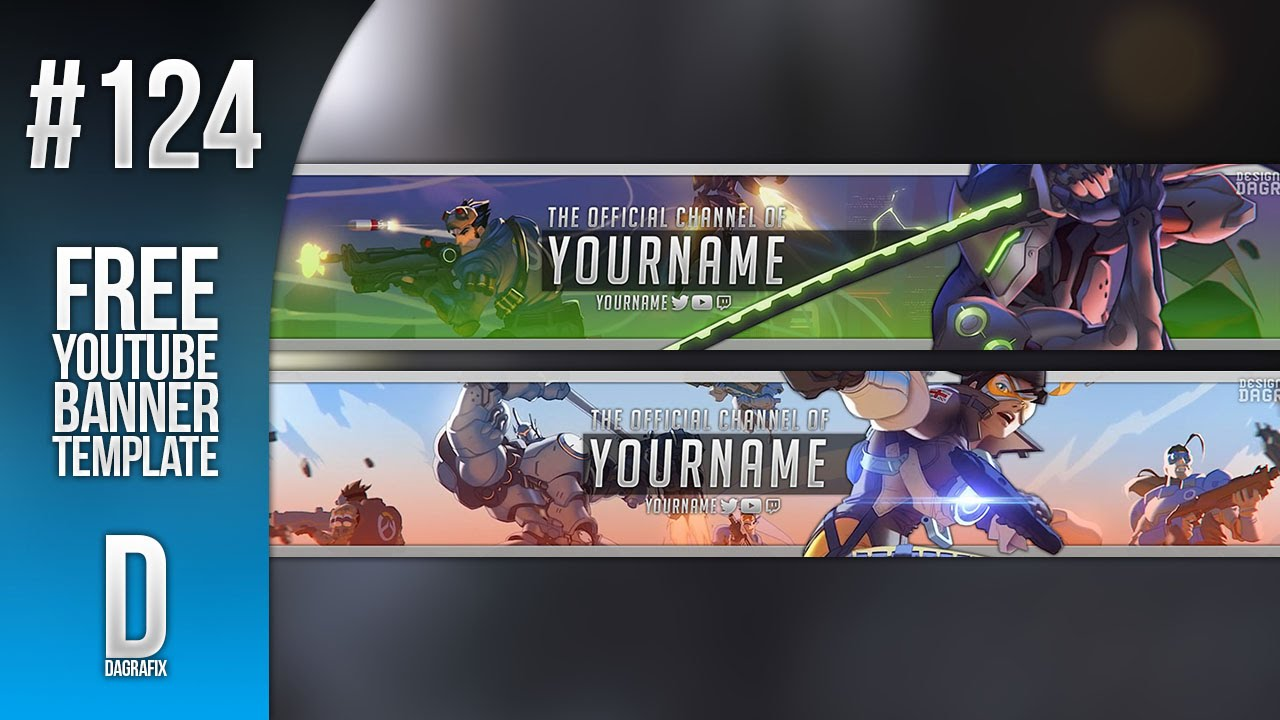 overwatch youtube banner template 124 free photoshop