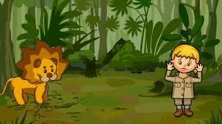 drawing cartoon 2 lion animation