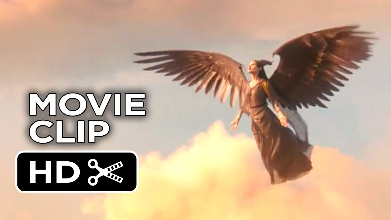 Maleficent Movie Clip Into The Clouds 2014 Angelina Jolie Fantasy Movie Hd