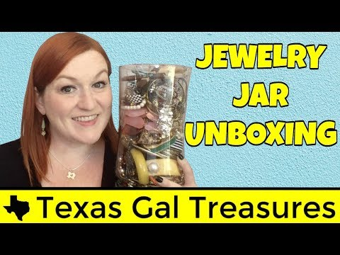 Live Jewelry Haul - Turning $25 into $????? - Jewelry Jar Unboxing - Make Money Selling Online