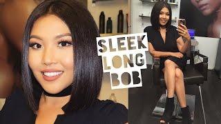 NEW HAIR VLOG: Sleek & Shiny Long Bob - Color/Cut | MARLA NYAMDORJ