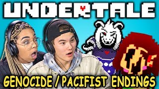 PACIFIST & GENOCIDE ENDINGS! | UNDERTALE - Part 9 (React: Let's Plays)