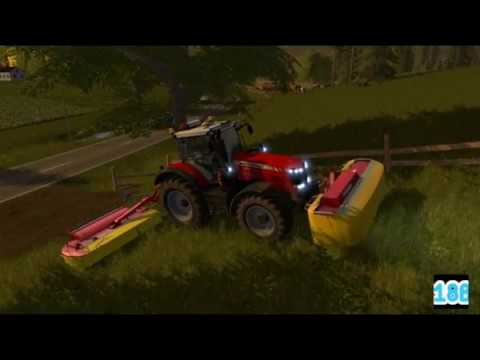 Grass mowing in Sweden with music! - Farming Simulator 17