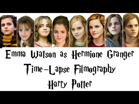 Hermione Granger (Emma Watson) Time-Lapse Filmography in the Harry Potter  Film Series - YouTube