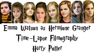 Hermione Granger (Emma Watson) Time-Lapse Filmography in the Harry Potter Film Series