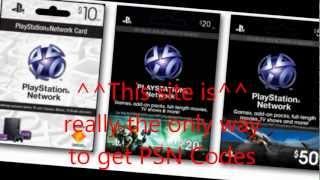 Free PSN Codes PS3 Playstation 3 Network New Generator 2013