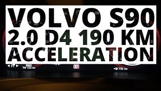 Volvo S90 2.0 D4 190 KM (AT) - acceleration 0-100 km/h