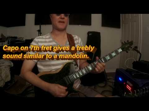 Losing My Religion REM Mandolin Part On Guitar - Lesson / Cover