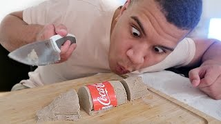 DIY KINETIC SAND COCA COLA BOTTLE!!
