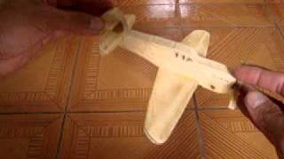 003 Aviao De Maderia Brinquedo Educativo Wood Toy Plane Children Educational Toy Fun Play