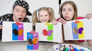 Самый СЛОЖНЫЙ 3 МАРКЕР ЧЕЛЛЕНДЖ или 3 Marker Challenge with Food от Family Box