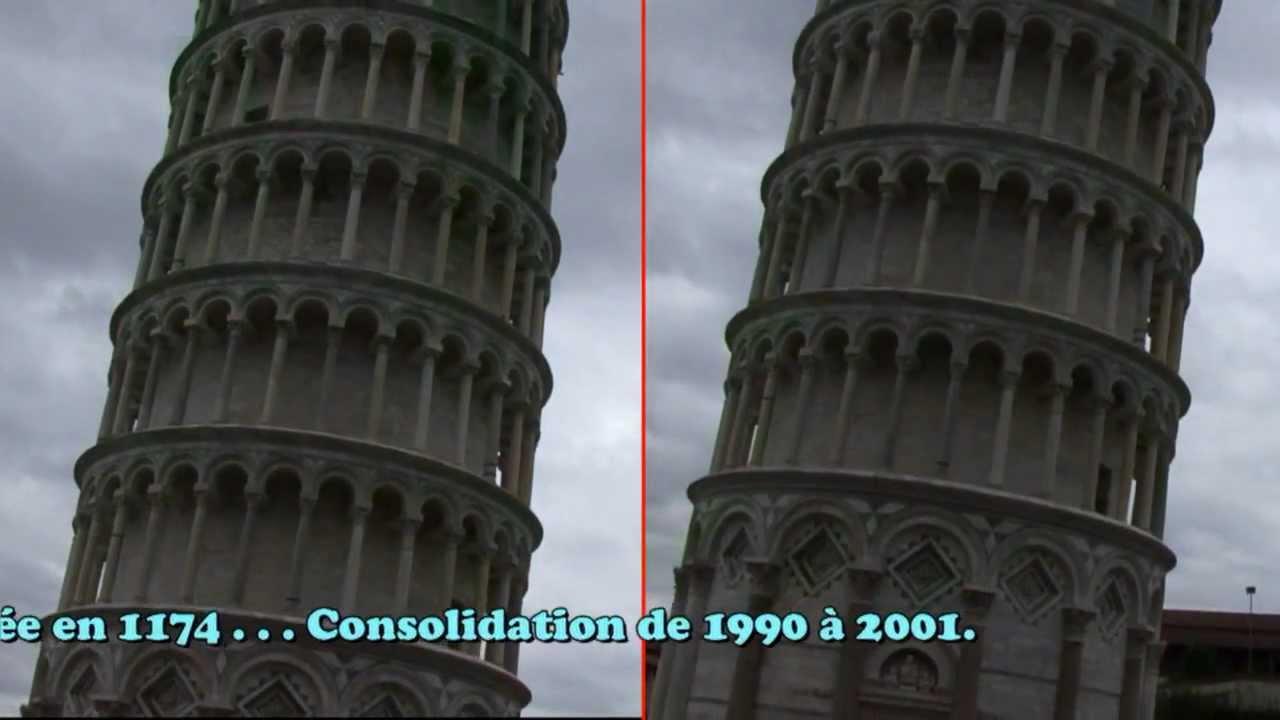 La tour de pise youtube - La tour de pise se redresse ...