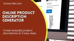 Online Product Description Generator