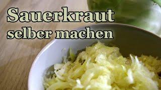 Sauerkraut selber machen - schnell und einfach! (Weisskohl fermentieren, Vegan und Rohkost)