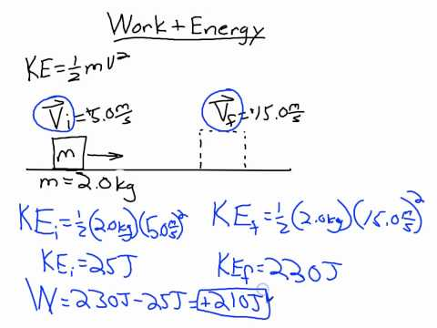 Work, Kinetic Energy, and Potential Energy Relations