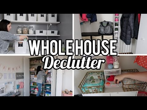Whole House Declutter | Clean With Me | Organization