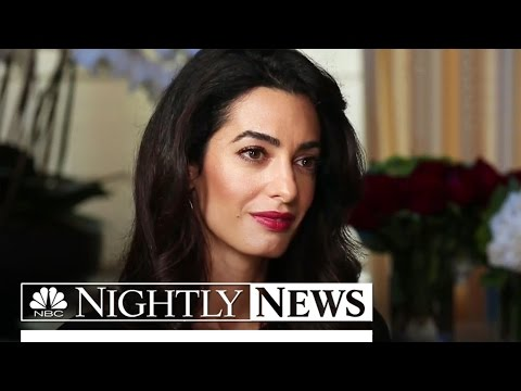 Exclusive: Amal Clooney on Taking ISIS to Court for Yazidi Genocide | NBC Nightly News