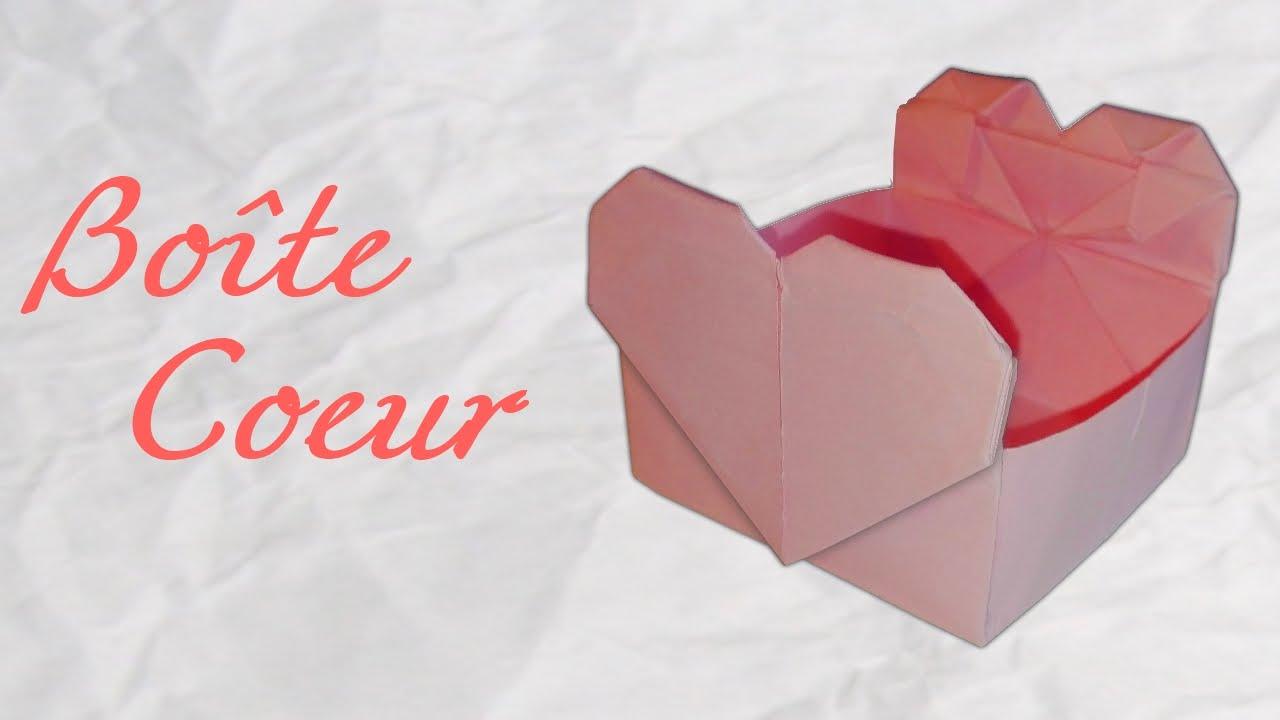 origami ! boite coeur en papier [hd] - youtube